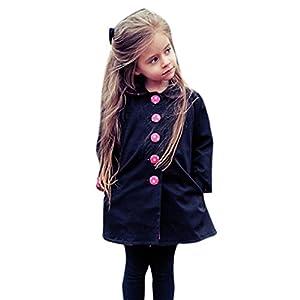 Coat ,BeautyVan Fashion Cartoon Beautiful Toddler Winter Warm Dot Belt Coat Windbreaker (6/7T, Navy)