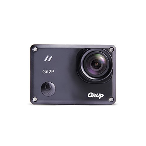 GitUp Git2P Action Camera Standard Pack with 90 Degree Lens (Black Spring 2017 Edition) by GitUp