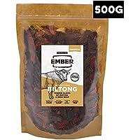 Ember Biltong 500g – Carne Secca Beef Jerky Originale – Snack Proteico, Senza Zuccheri Aggiunti – Confezione Richiudibile - Gusto Original (1x500g)