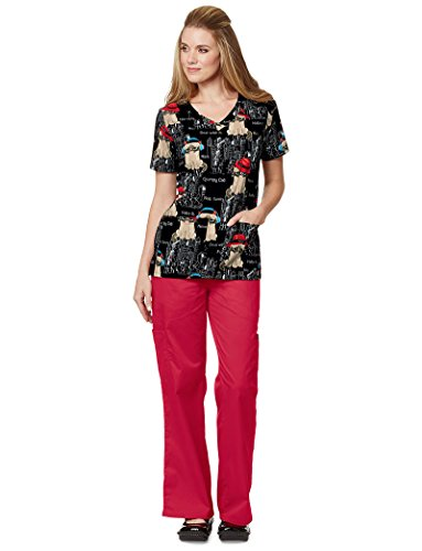 2 Pocket Scrub Top, Grumpy In NYC, - Nyc Shops In Small