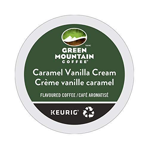 Green Mountain Coffee Caramel Vanilla Cream, K-Cup Portion Count for Keurig K-Cup Brewers, 24-Count (Green Coffee Best Share)