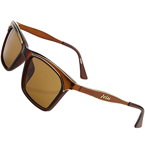 Sumery Women Vintage Retro Wayfarer Sunglasses UV400 4PCS (Brown, - List Dior Price Lady