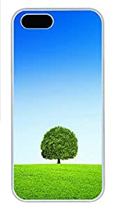 iPhone 5s Cases & Covers - A Tree Blue Sky And White Clouds Custom PC Soft Case Cover Protector for iPhone 5s - White