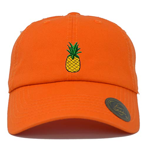 Love Sketches Pineapple Embroidered Classic Polo Style Baseball Cap Low Profile Dad Cap Hat ()