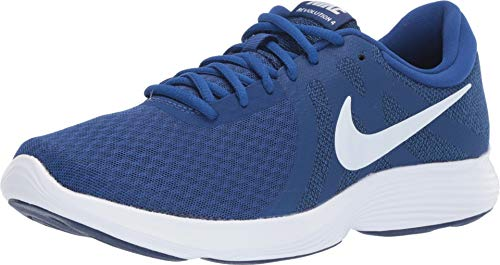 Nike Men's Revolution 4 Sneaker, Indigo Force/White-Blue Void, 6.5 Regular US (Sneakers Nike Mens Blue)