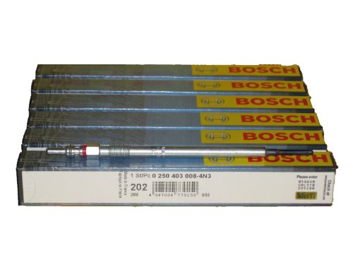 6 Piece Set of Bosch OEM Glow Plugs  0250403008 / 80050 - Mercedes Benz / Dodge / Freightliner Sprinter 2500/3500 2007-2013 3.0 V6 Jeep Grand Cheerokee 2007-2009 3.0 V6 by Bosch