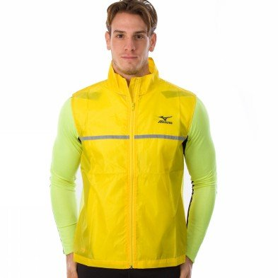 Mizuno Running Reflective Vest 67xws170-53 Herren Weste Gelb [l]