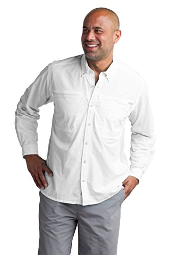 ExOfficio Men's Atoll Long Sleeve, White, -