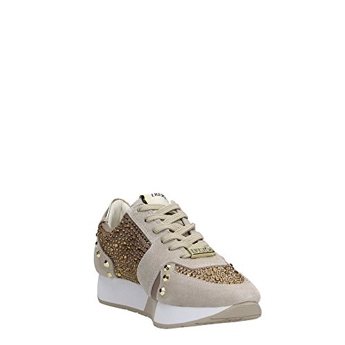 Zapatos Sneaker Mujeres LIU JO Shoes Beige Coloniale Running Aura Strass New
