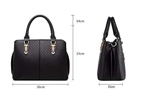 Femmes main Handle à Sacs Top PU Messenger Burgundy bandoulière Femme Noir Bag Sacs cuir Solide en Sacs à r7qwrEg