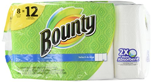 Kitchen Paper (Bounty Select-A-Size Paper Towels, White, Giant Roll, 8)