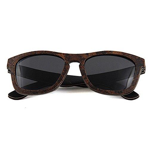 Peggy Uv Blandas Polarizadas Mano Madera De Gris Gu Protección A Conducción Gafas Sol Playa Hechas Hombres Personalidad Los rgRrn61qH