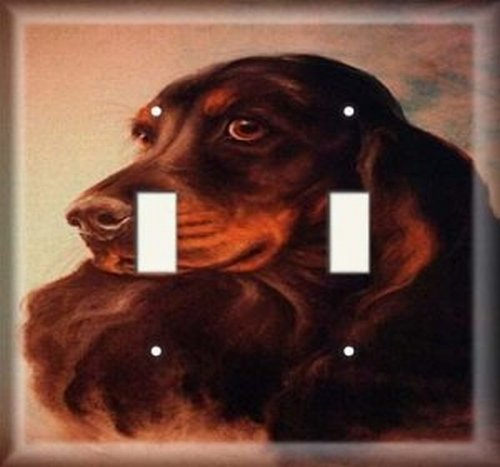 Double Light Switchplate Cover - Regal Dog