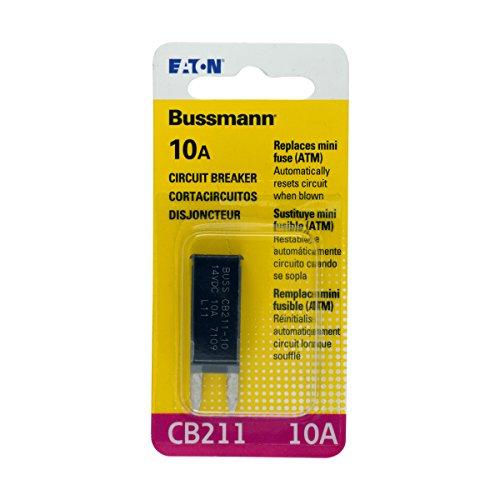 (Bussmann (BP/CB211-10-RP) 10 Amp Type-I ATM Mini Circuit Breaker)