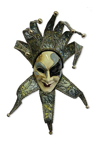 Horror-Shop Joker Máscara veneciana verde / oro: Amazon.es: Juguetes y juegos