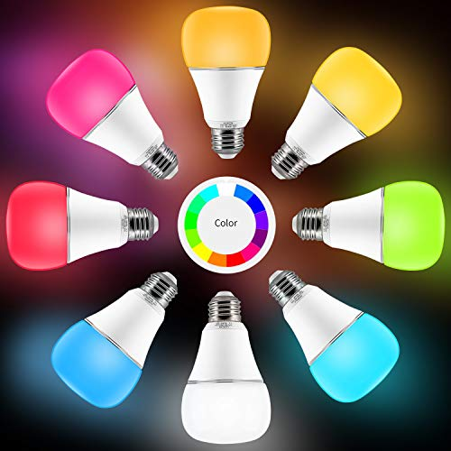 Smart WI-FI LED Light Bulb RGBW Color Changing E26 Base Smart Dimmable Light Bulb Smartphone Controlled Work with Amazon Alexa/ Google Home by LUXON by LUXON (Image #2)'