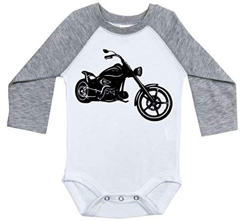 (Harley Davidson Baby Outfit/Motorcycle Raglan Onesie/Newborn Bodysuit (3-6M,)