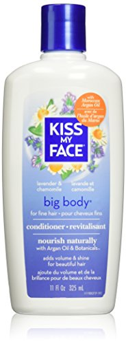 Kiss My Face Big Body Hair Volumizing Conditioner,  Conditioner with Lavender & Chamomile, 11 Ounce (pack of 3)