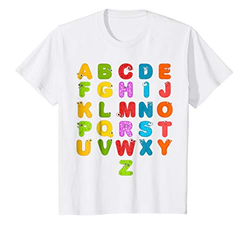 (Kids ABC Colorful Alphabet Youth T-Shirt Funny)