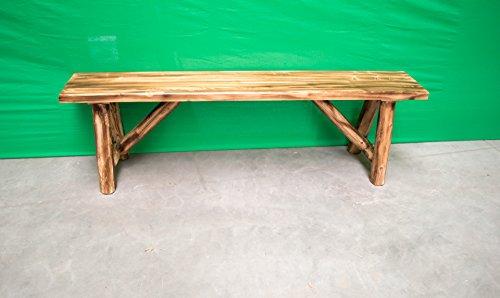 Midwest Log Furniture - Torched Cedar Log Bench