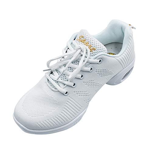 Blanco Pequeños Danza Cordones Baile Negro 1 Sneaker Más Libre Running Goma Jazz Deportes los Aire Zapatillas De Informal Zapatos Suela Practicidad Contemporáneo Lona Mujer Son Uirend qIwSgAS