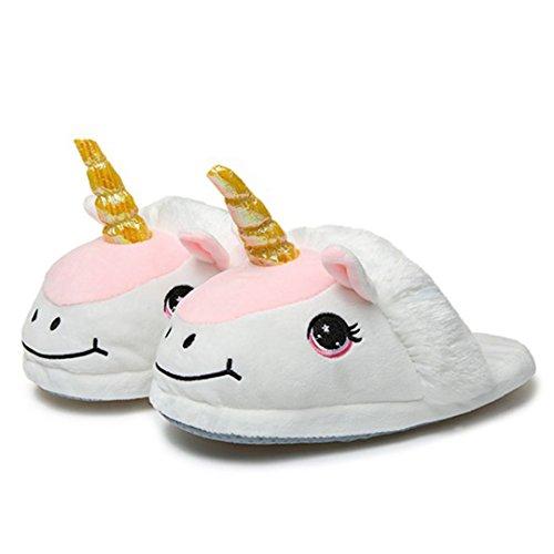 Bianco Pantofole Palmfox Halloween Cosplay Con Invernali Unisex Animali 1 Magico Unicorno 7wqAWwpz