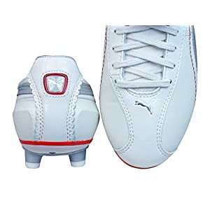 Puma King XL i FG Womens Leather Soccer Boots / Cleats-Silver-7