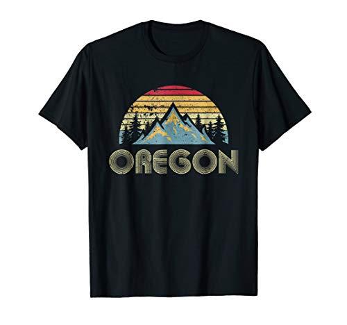 Oregon Tee - Retro Vintage Mountains Nature Hiking T Shirt