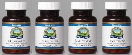 Naturessunshine l-Glutamine Supports Nervous System Amino Acid Supplement 30 Capsules (Pack of 4)