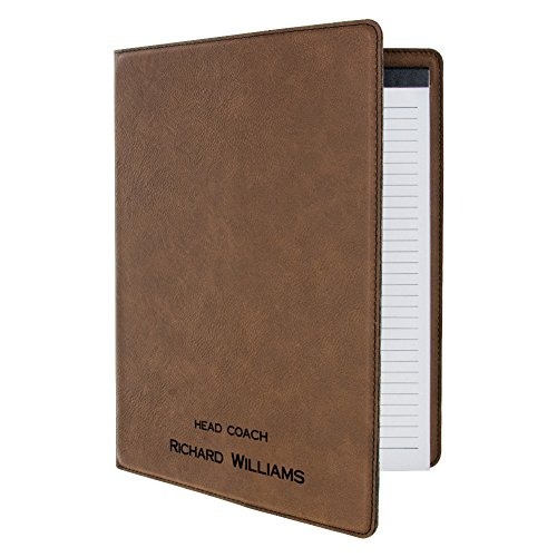 Erie 216 Customized Faux Leather Executive Padfolio, Brown ()