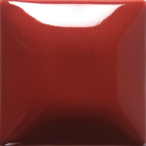 - Mayco Foundations Opaque Glaze - FN 015 - Brick Red - 4 Ounce Jar