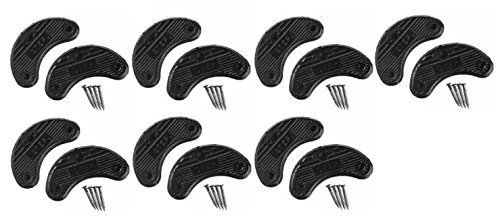 Traveler Men's Shoe Heel Plates Taps with Nails Black Plastic Large 7 Pairs