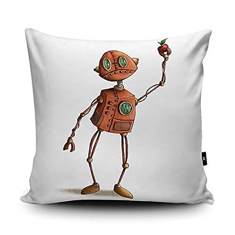 GOODcake Robot ilustración cojín por Amberin Huq - Robot ...