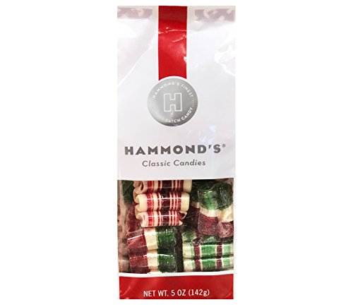 Hammond's Candies Mini Ribbon Candy Christmas Mix 5 oz gift bag (Peppermint, Cherry and Cinnamon, Pack Of ()
