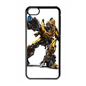 Durable Hard cover Customized TPU case Transformers Bumblebee iPhone 5c Cell Phone Case Black