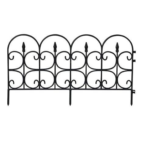 Amazon.com : Emsco 2093DS Medium Victorian Fence - Black : Garden ...