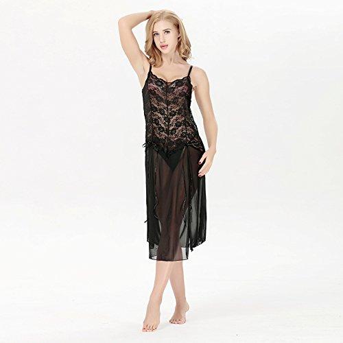 Nuit Longue Cote Fine Transparent De Noir Dentelle Xxxxxl Robe M String Taille Coupee Vêtement Nuisettes Lingerie Anladia Grande tpwPqYx