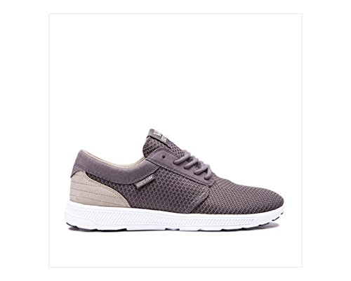 Supra Mens Hammer Run Skate Shoe Bianco Carbone