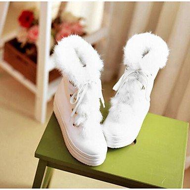 Beige Blanc white Bottes amp;xuezi Rose Décontracté Plat Femme GLL Hiver Polyuréthane Confort 8qR0S