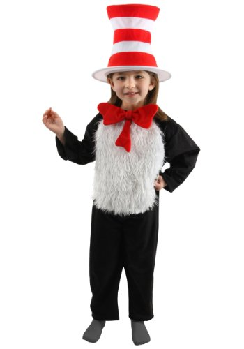 Big Boys' Deluxe Child Cat in the Hat Costume - M