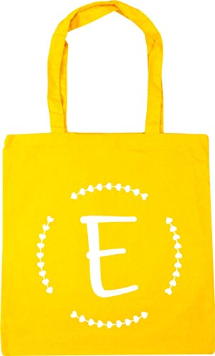 HippoWarehouse 10 Bag 42cm x38cm Initial Shopping Gym E litres Tote Yellow Beach rBqrTOzw