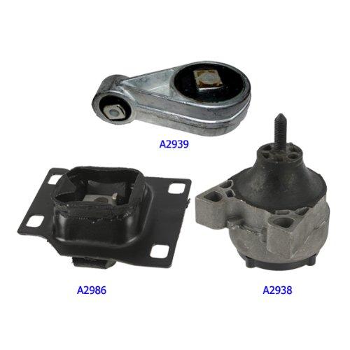 Ford Sohc Motor (00-03 Ford Focus 2.0 SOHC Engine Motor & Trans Mount Kit 3PCS. A2938 A2939 A2986)