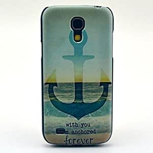 LZX Anchor Pattern Hard Plastic Cases for Samsung Galaxy S4 mini I9190