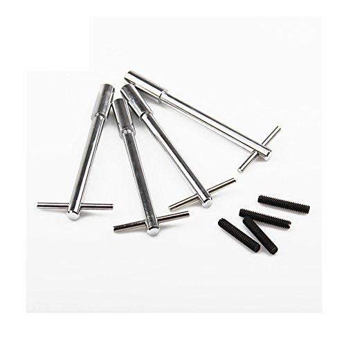 Silver Anodized Aluminum V8 Valve Cover T-Bar W// Chrome Valve Spreaders Set Of 8