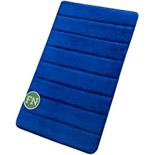 "FindNew 16"" 24"" Microfiber Memory Foam Bath Mat with Anti-skid Bottom Non-slip Quickly Drying (Royal Blue)"