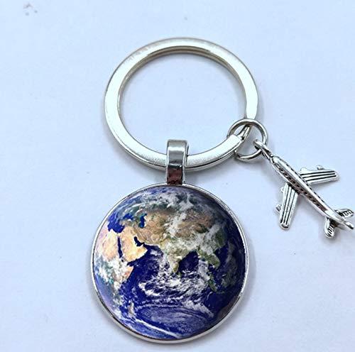 Plata 2,5 cm Adulto Llavero Mundo Tierra geo-versand Unisex