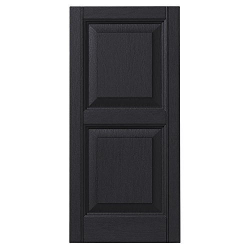 Arch Raised Panel - Ply Gem Shutters and Accents VINRP1543 33 Raised Panel Shutter, 15
