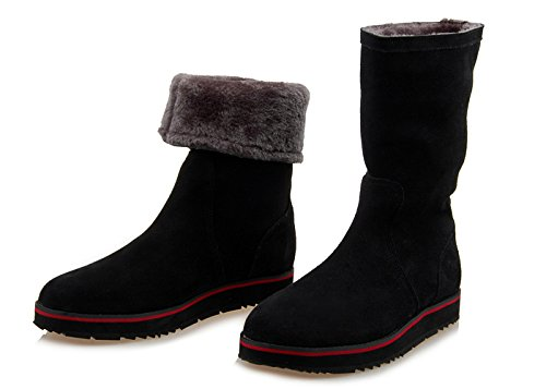 Winter thermal blanket, waterproof, anti slip snow boots, frosted leather boots,38 h by ZRLsly