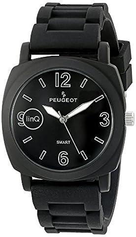 Peugeot 'Bluetooth Connected' Quartz Metal and Rubber Smart Watch, Color:Black (Model: LQ1001BK) (One Direction Phone Case Cheap)