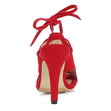 LvYuan Tacón Stiletto-Otro-Sandalias-Oficina y Trabajo Vestido Fiesta y Noche-Vellón-Negro Azul Rojo Black